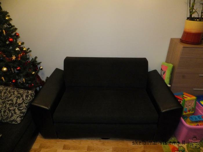 parduodu dviviete ir triviete sofa lova,geros bukles