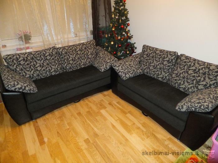 parduodu dvivieti ir trivieti sofos lovos komplekta