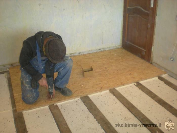 profesionaliai atliekame sienu bei lubu dekoratyvini tinkavima/glaistyma tel.865313704 klaipeda