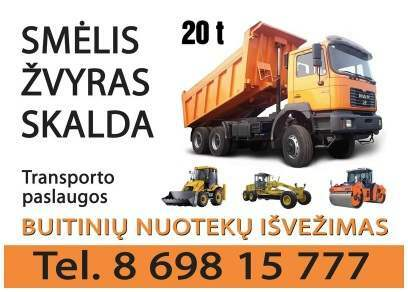 skalda smelis zvyras gruntas atvezame 20t Kaunas 869815777 ©