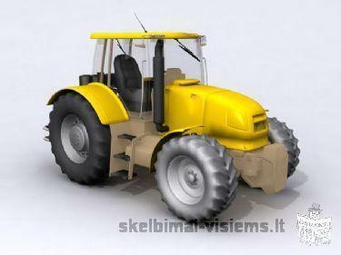 stiklai traktoriams kombainams
