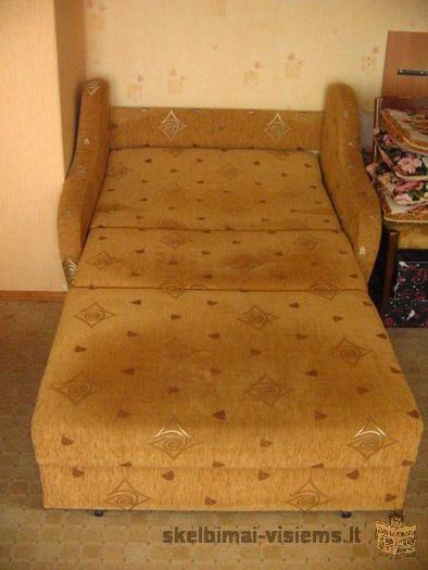 viengulis miegamas fotelis