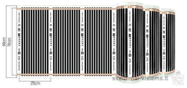 Этаж термопленки energoplėvelė-45LT / м2